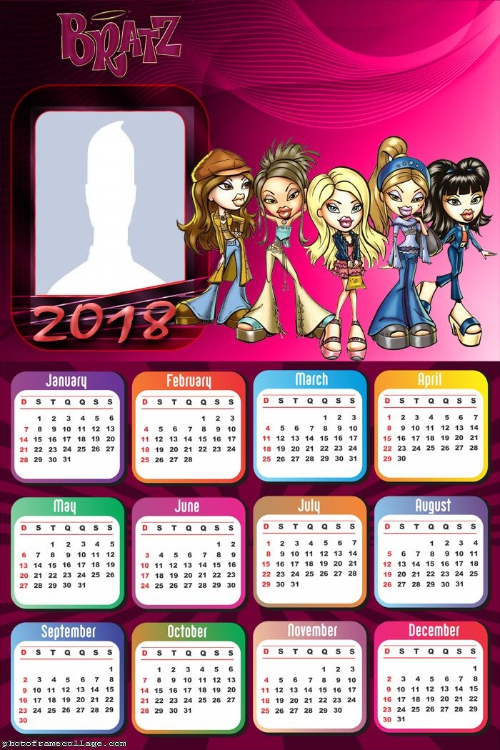 Calendar 2018 Bratz