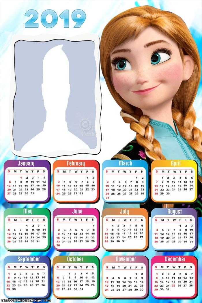 Anna Princess Frozen Calendar 2019