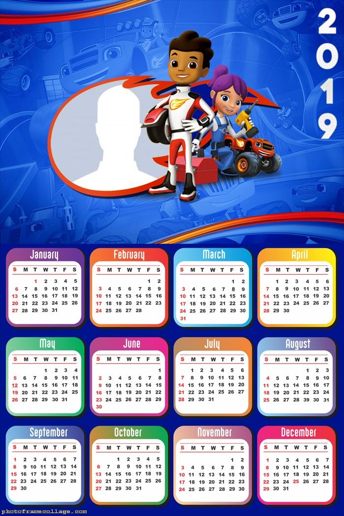 Blaze and The Monster Machine Calendar 2019
