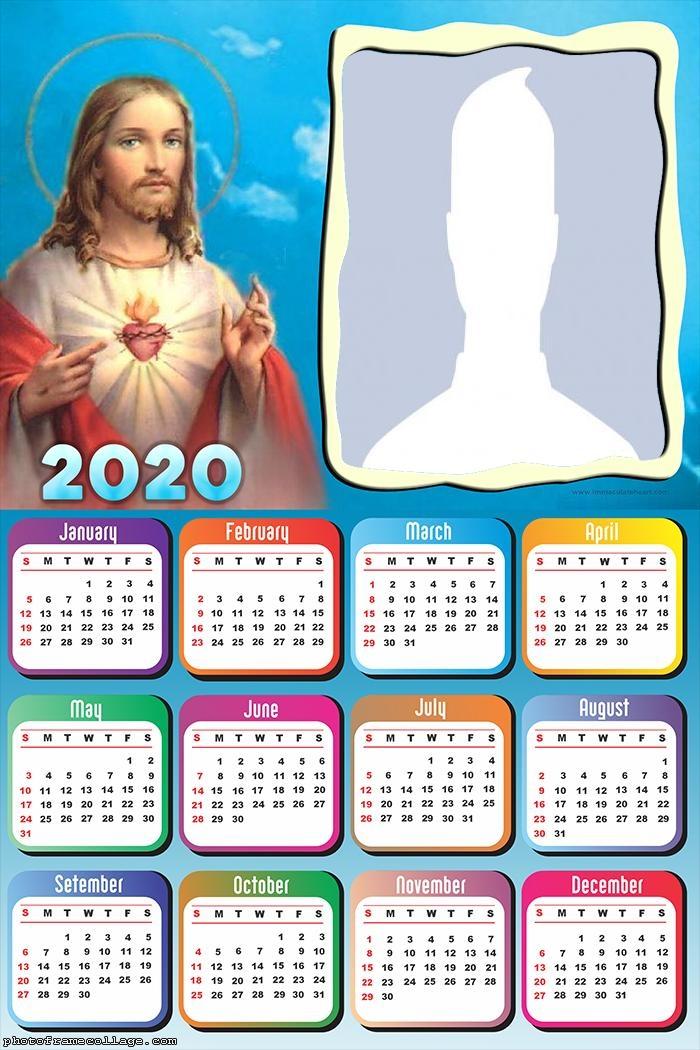 Jesus Christ Calendar 2020 Online Frame Picture