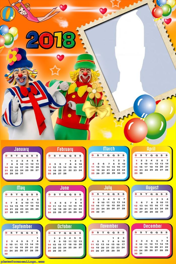 Calendar 2018 Clowns
