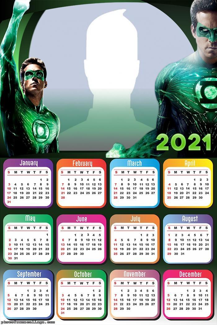 Calendar 2021 Green Lantern