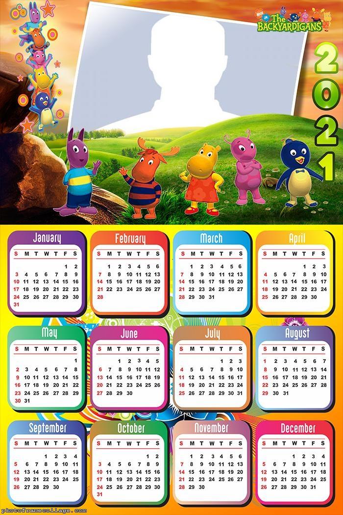 Calendar 2021 Pablo The Backyardigans