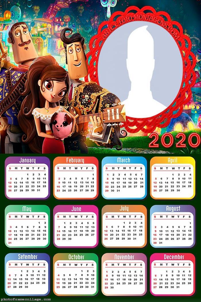 The Book of Life Calendar 2020