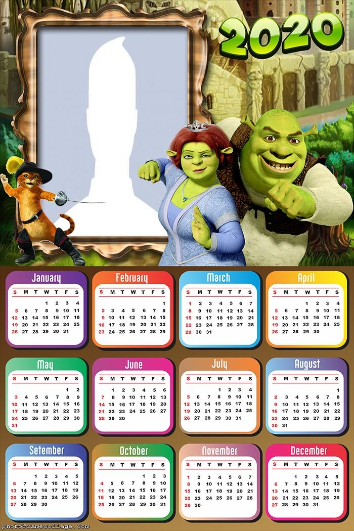 Shrek and Fiona Picture Calendar 2020