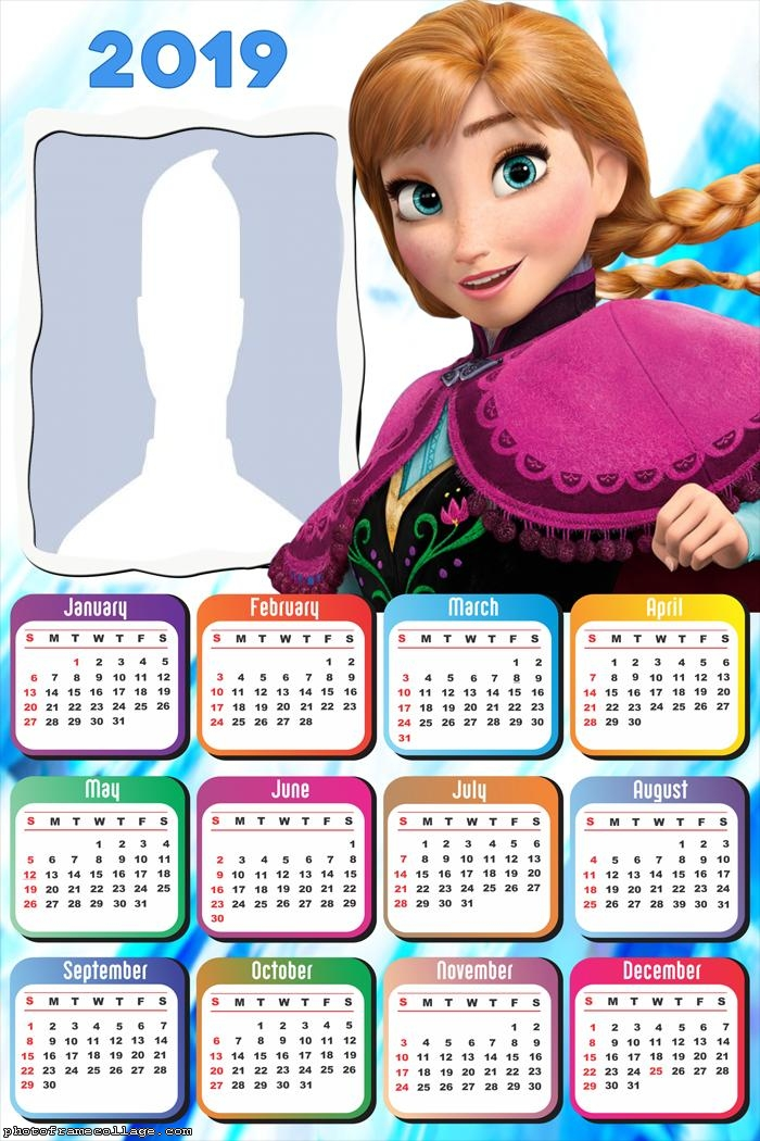Anna Frozen Princess Calendar 2019