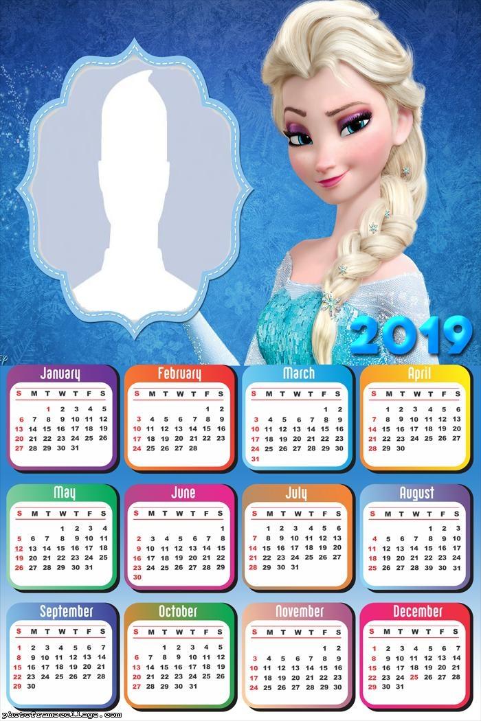 Elsa Frozen Calendar 2019