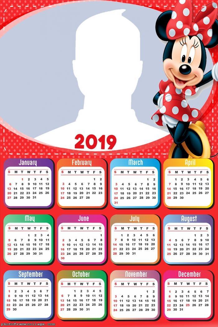 Minnie Red Calendar 2019