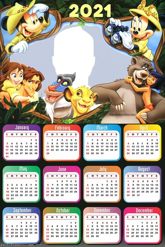 Calendar 2021 Disney Safari