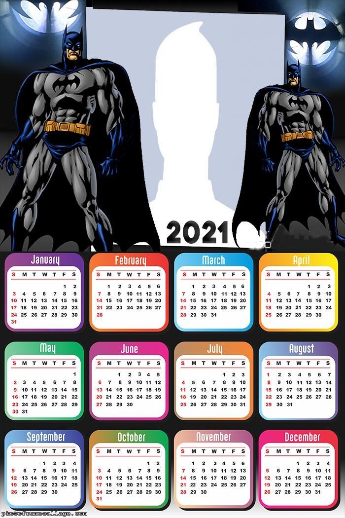 Calendar 2021 Batman Cartoon