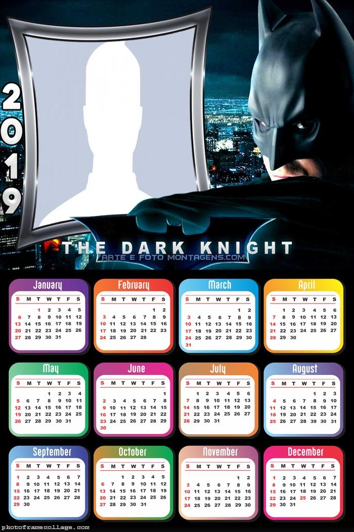 Dark Knight Calendar 2019 The Batman