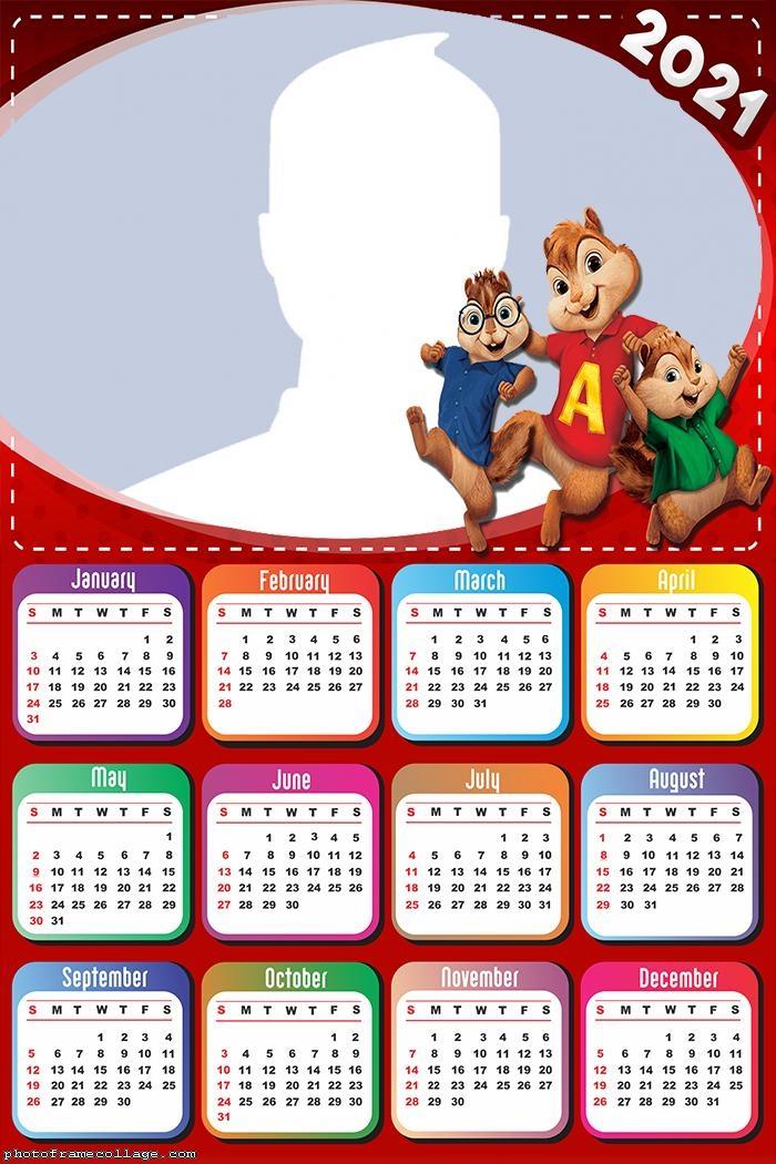 Calendar 2021 Alvin and the Chipmunks