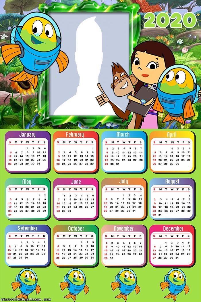 Fishtronaut Calendar 2020 Frame Collage