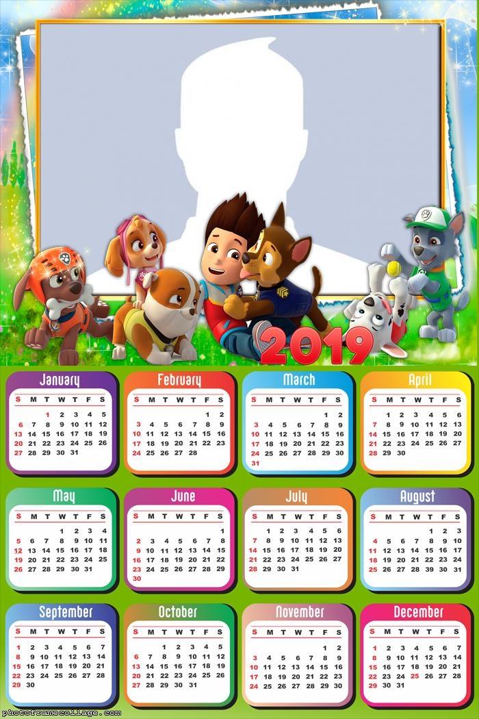 Paw Patrol Characters Calendar 2019