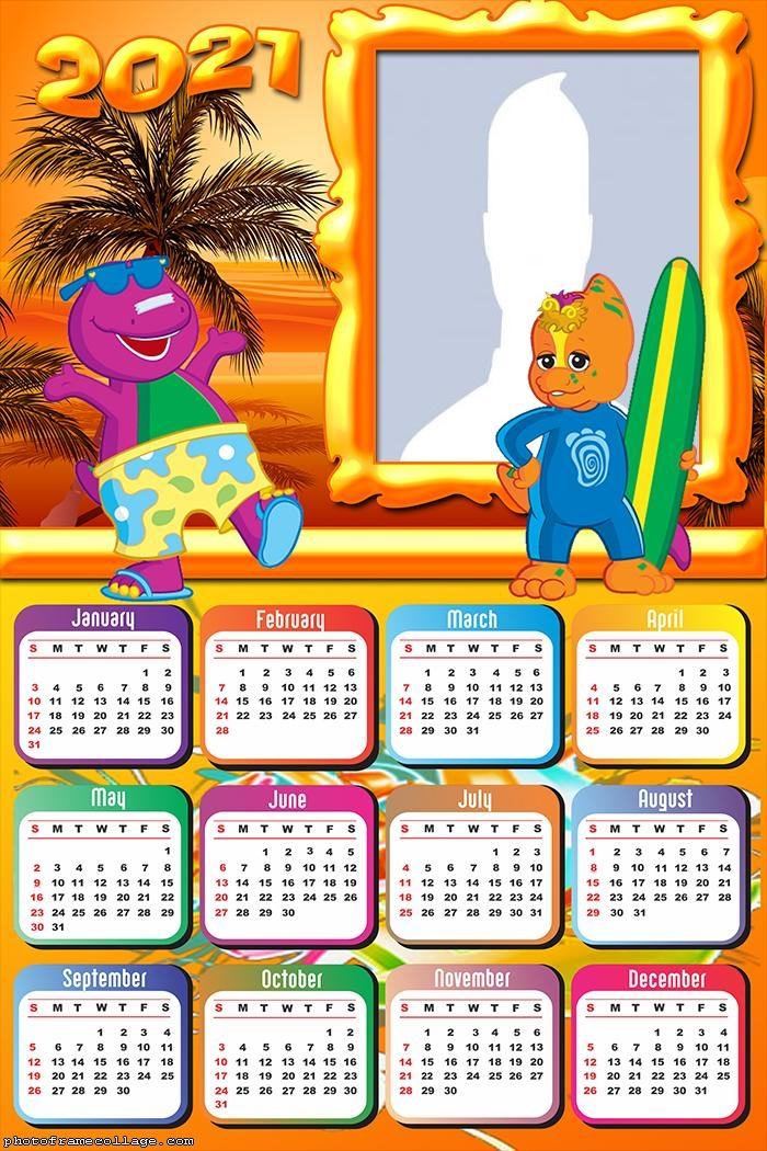 Calendar 2021 Barney and Friends