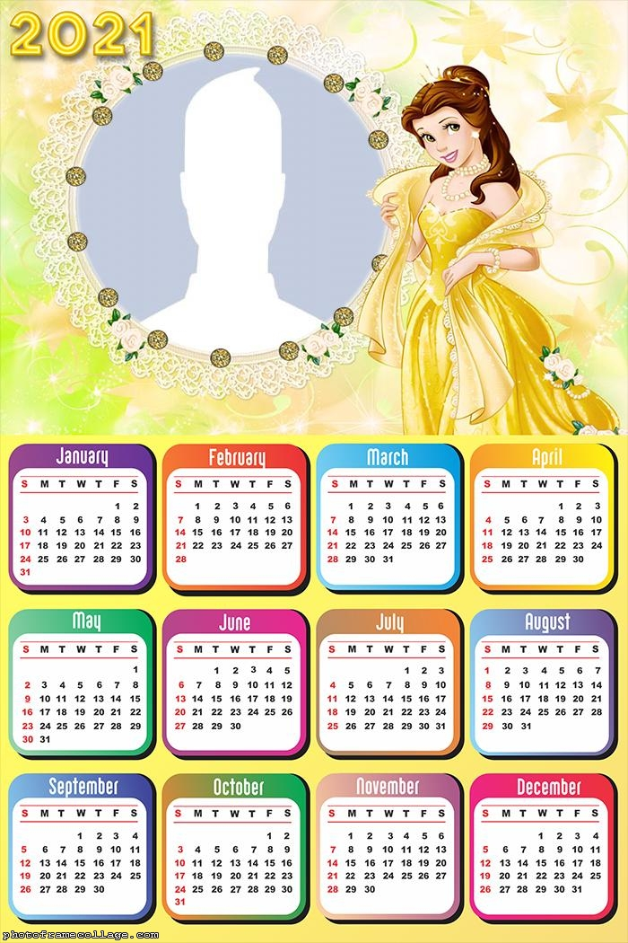 Princess Belle Disney Calendar 2021