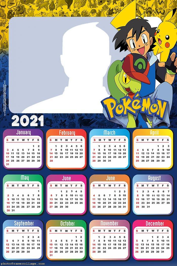 Calendar 2021 Pokemon