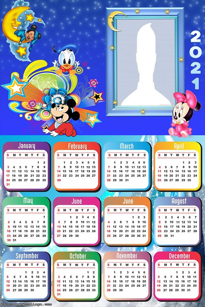 Calendar 2021 Disney Baby Characters