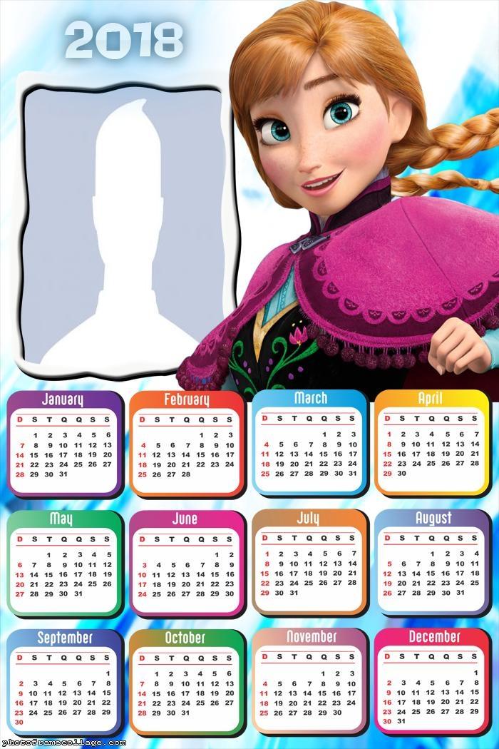 Calendar 2018 Princess Anne