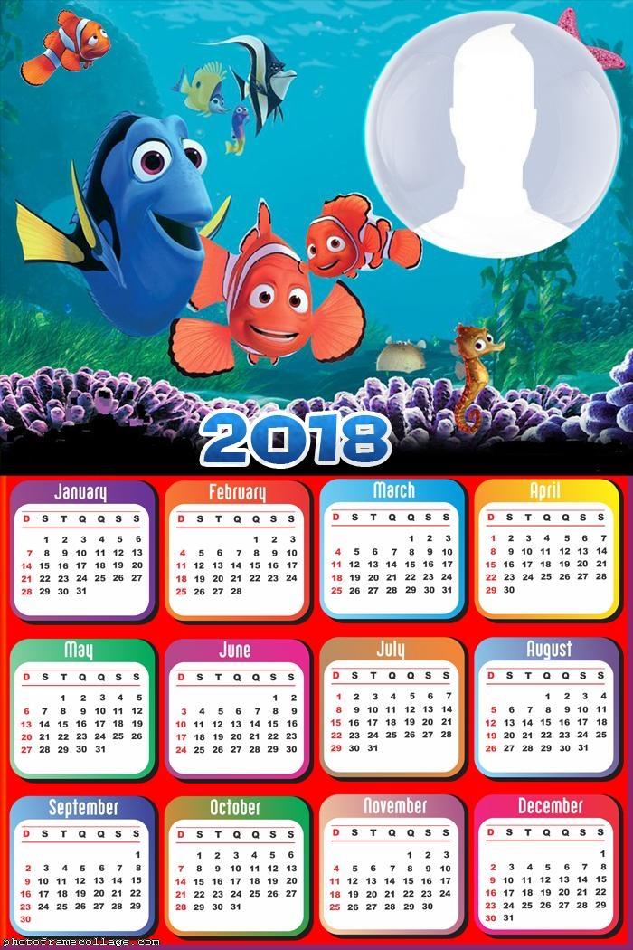 Calendar 2018 Nemo