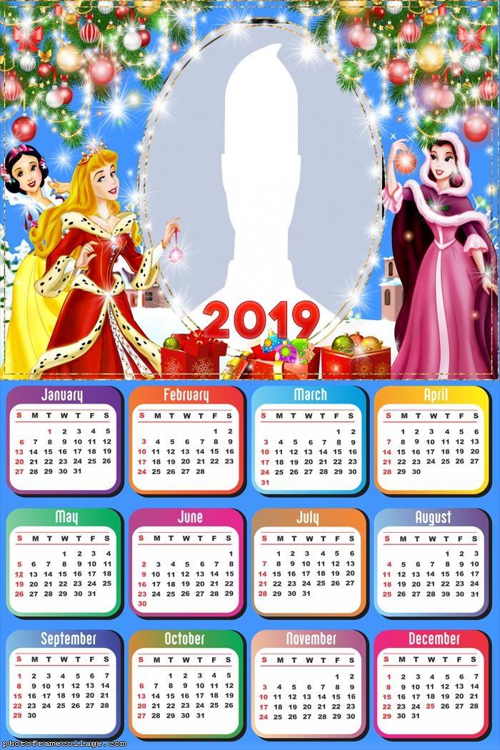 Christmas Princess Disney Calendar 2019