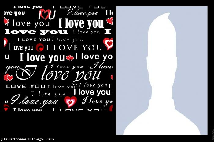 Valentines Day Words I Love You Collage