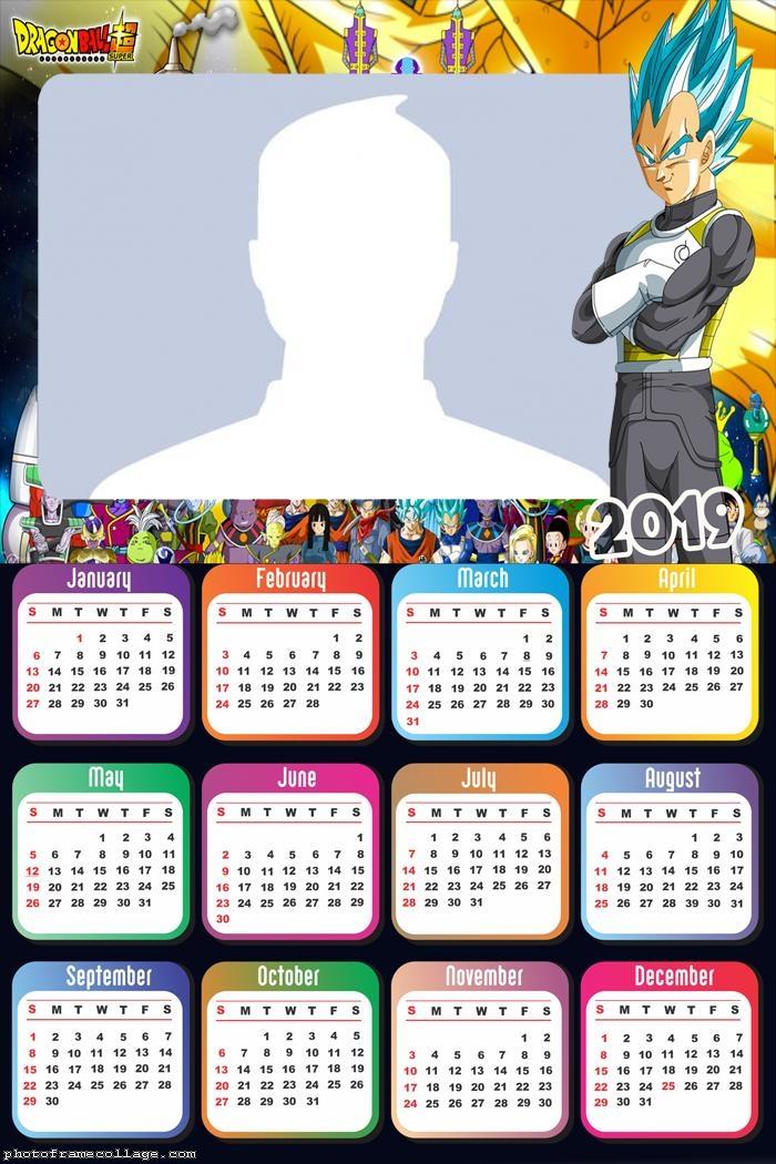 Vegeta Super Sayajin Calendar 2019