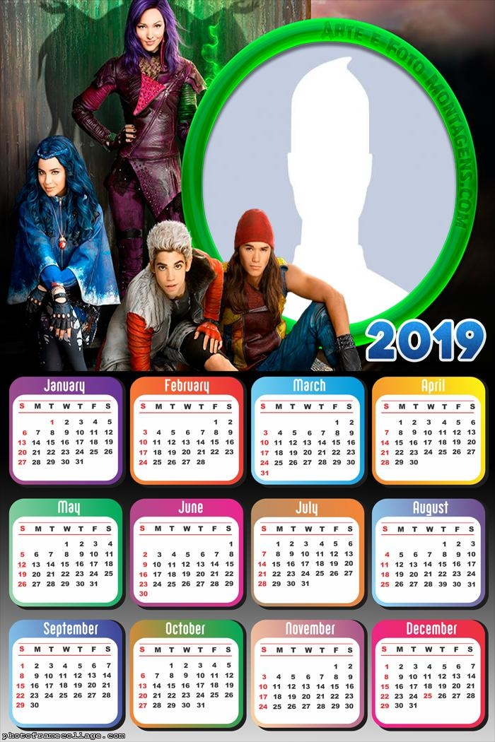 Descendants Calendar 2019