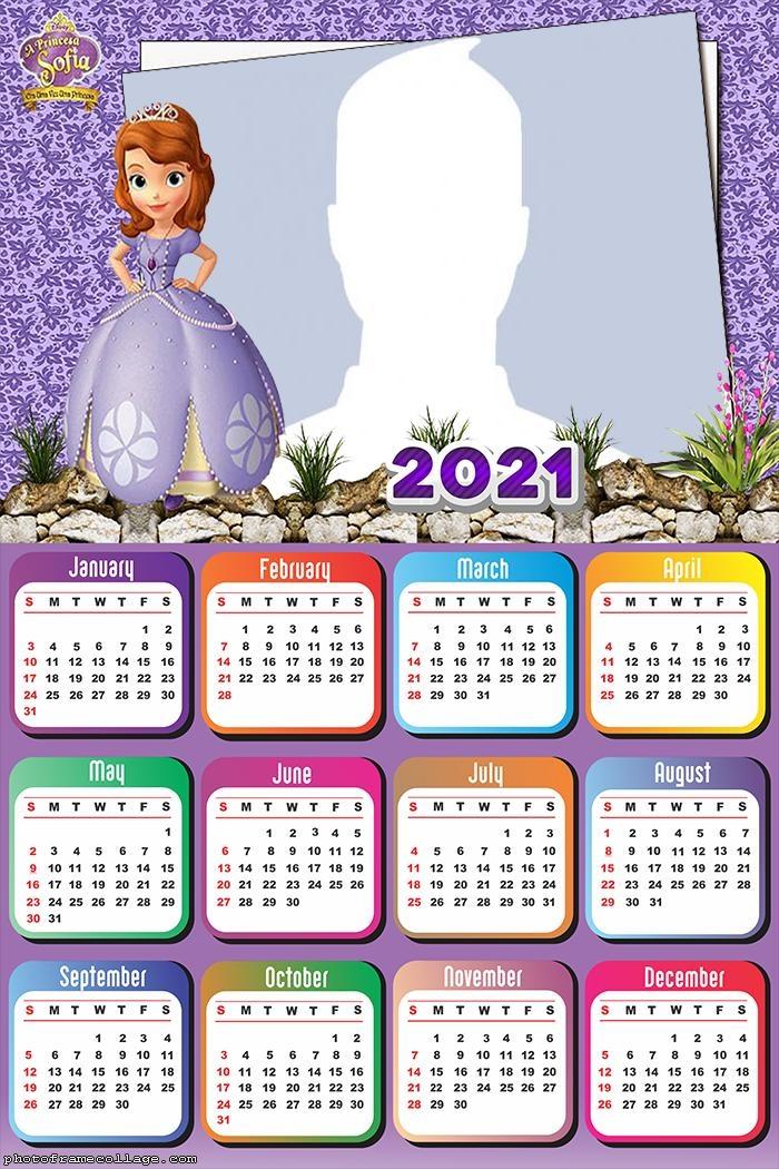 Calendar 2021 Sofia Disney