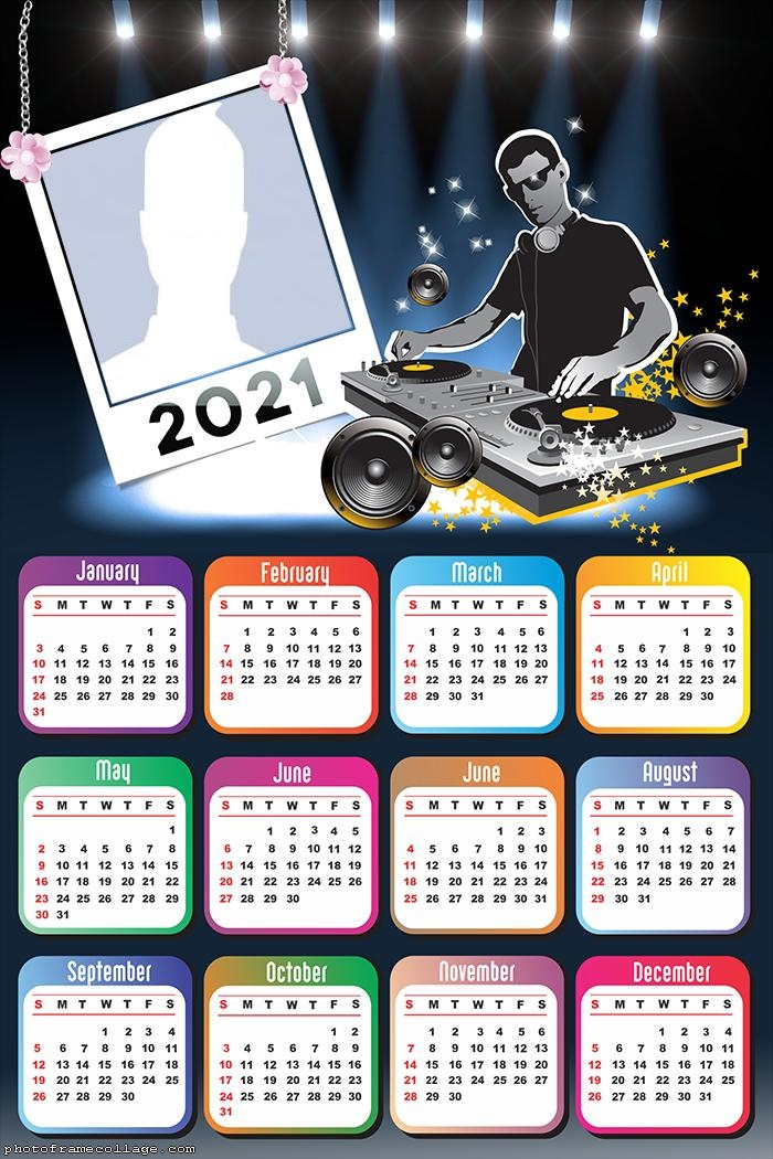 Calendar 2021 DJ Music