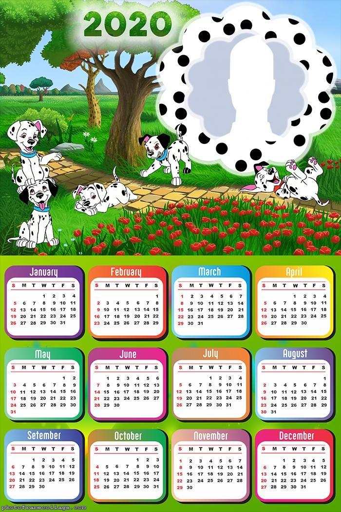 Drawing Dalmatians Dogs Calendar 2020
