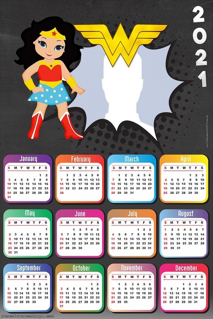 Calendar 2021 Wonder Woman