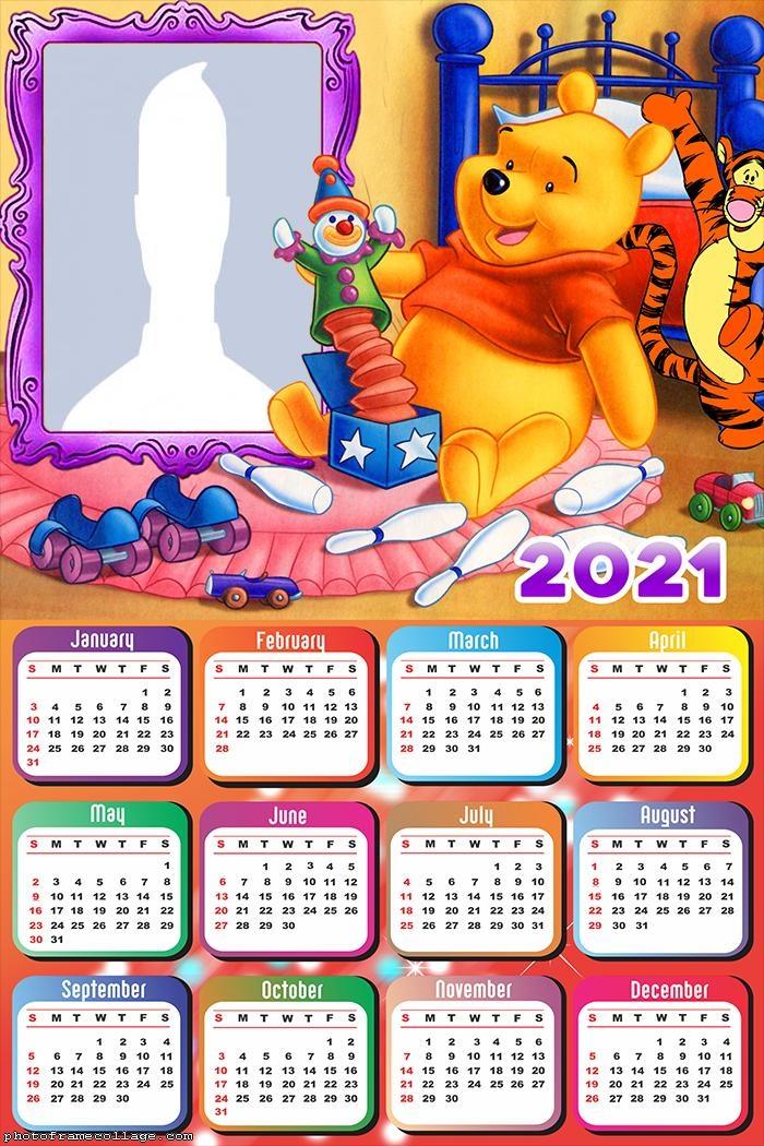 Winnie the Pooh Calendar 2021