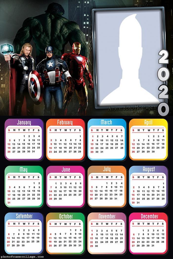 Avengers Calendar 2020