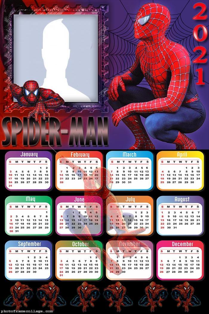 Calendar 2021 Spider Man