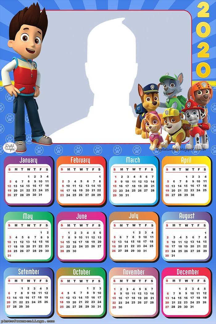 Paw Patrol Dogs Calendar 2020
