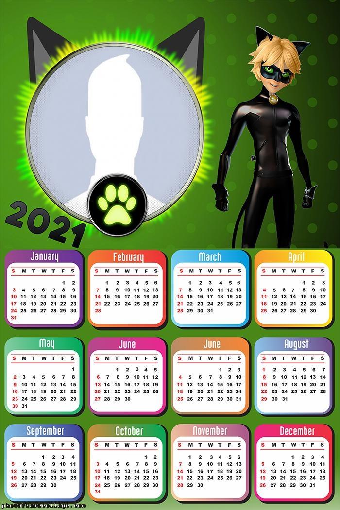 Calendar 2021 CatNoir