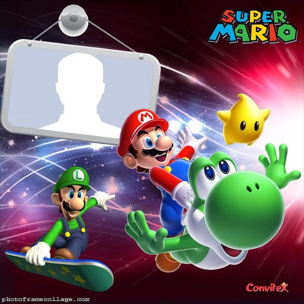 Game Super Mario Photo Collage