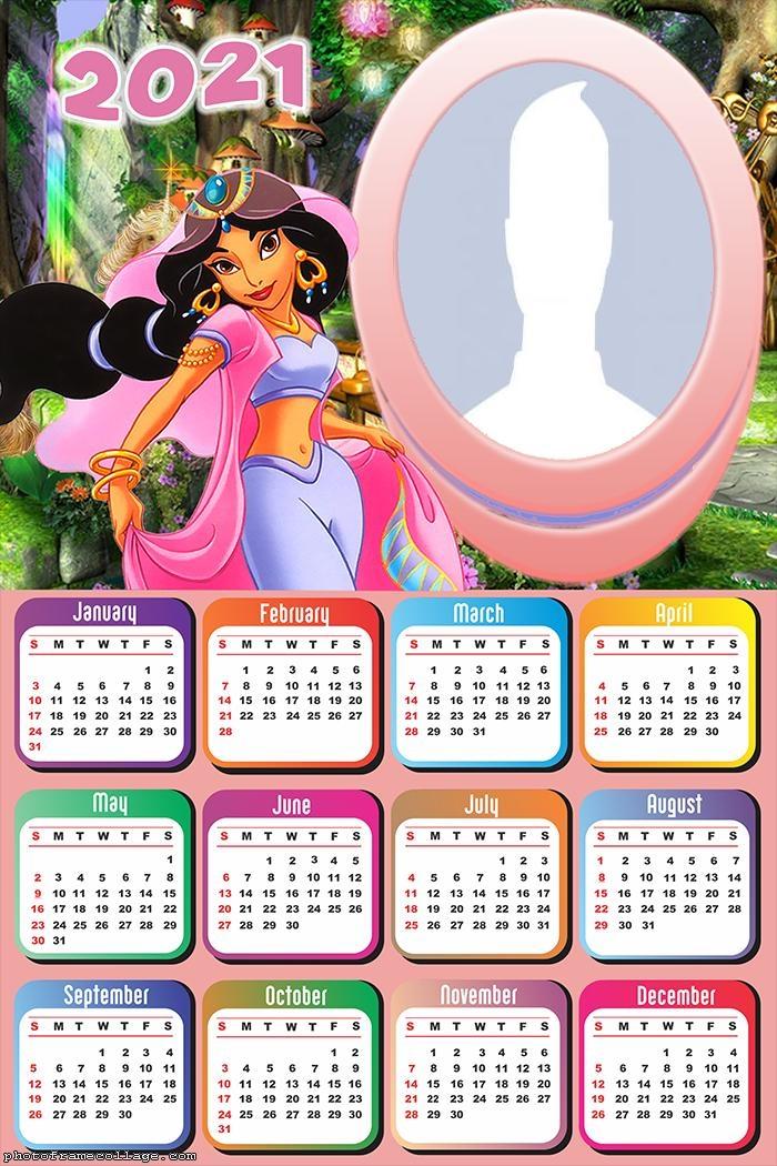 Calendar 2021 Princess Jasmine