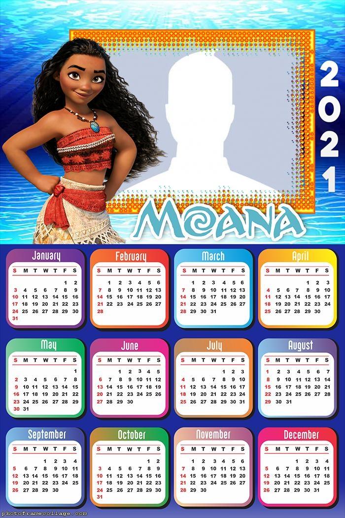 Moana Calendar 2021 Make Collage