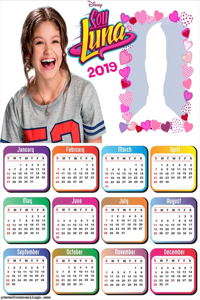 Soy Luna Calendar 2019 Photo Frame Collage