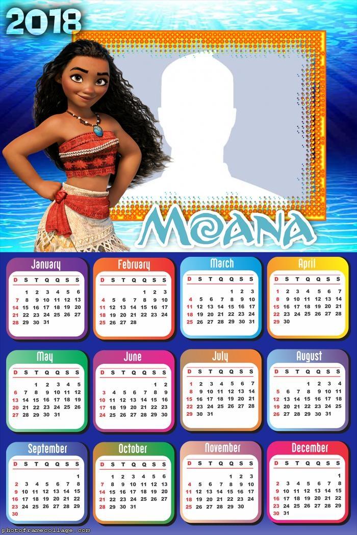 Calendar 2018 Moana