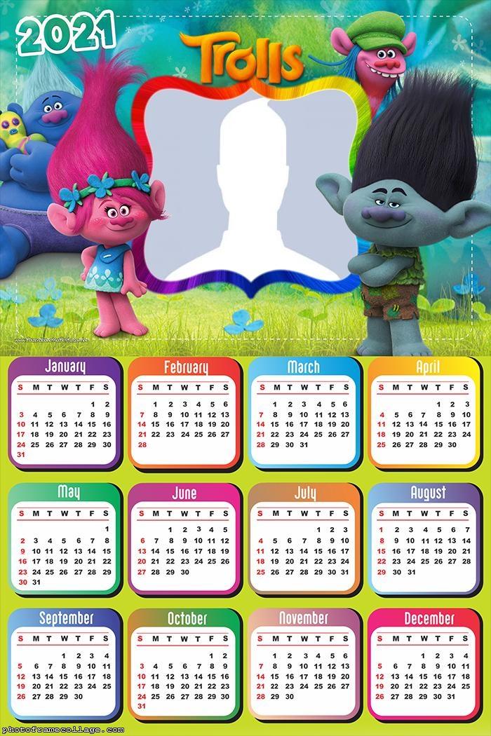 Calendar 2021 Trolls