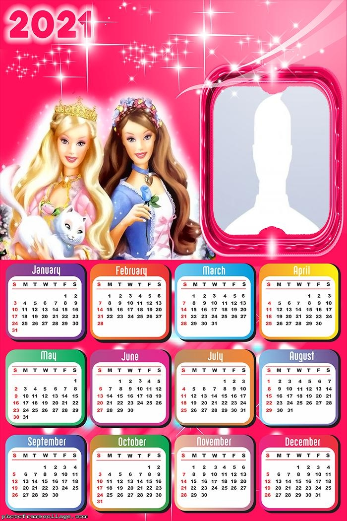 Calendar 2021 Barbie Toys