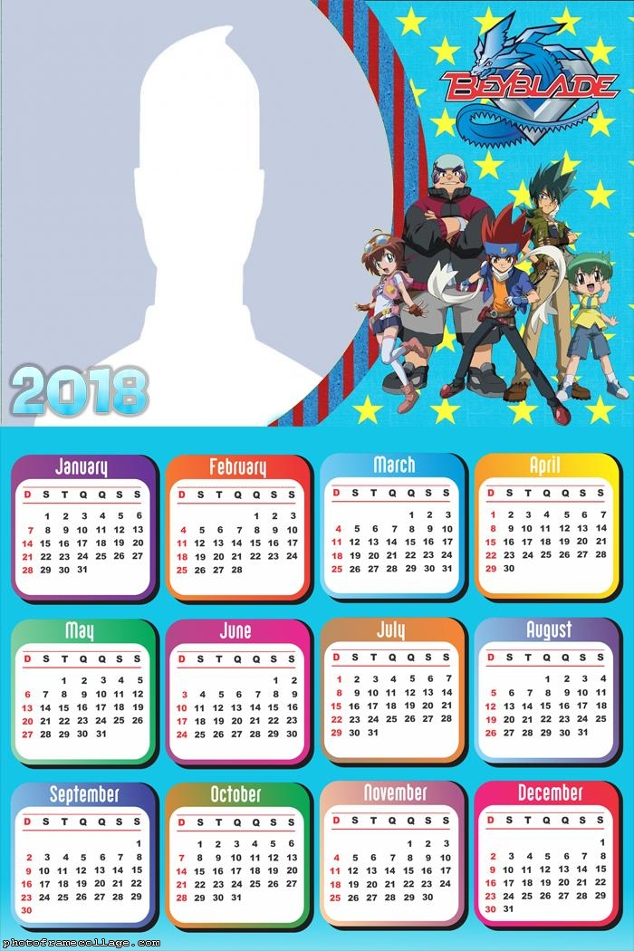 Calendar 2018 Beyblade 2018