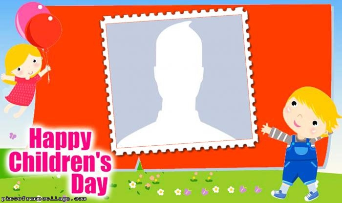 Happy Children Day Frame
