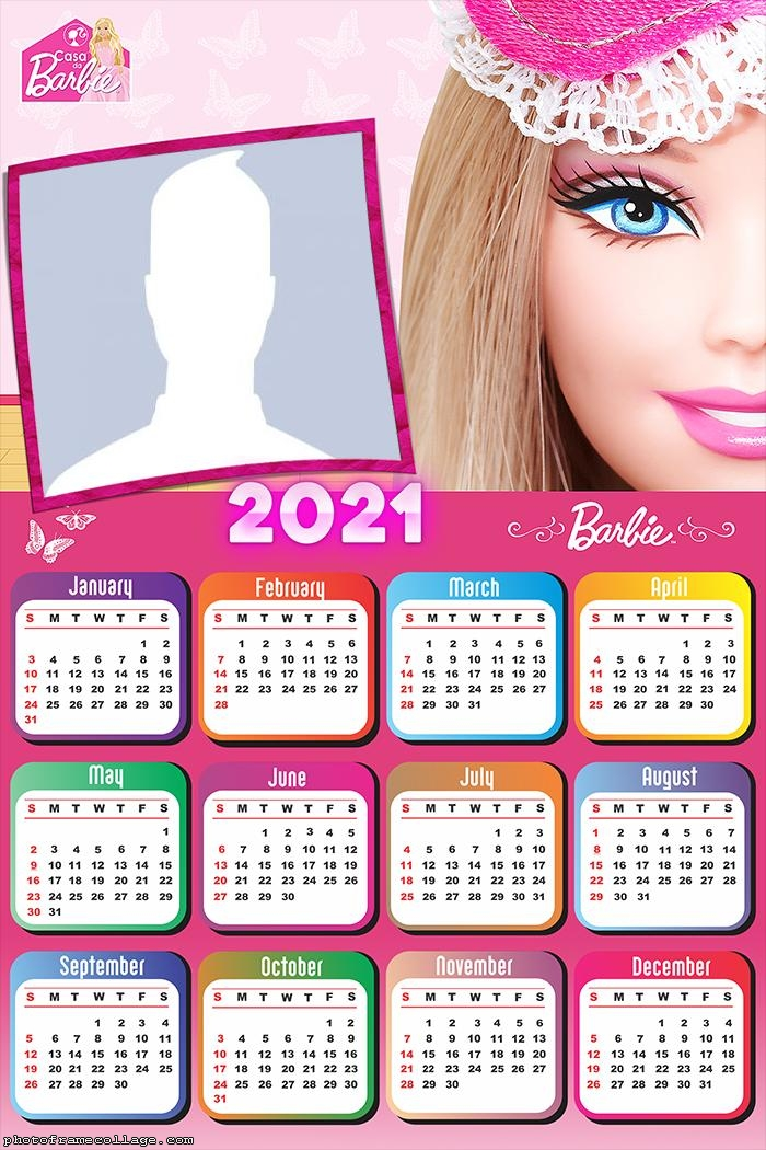 Calendar 2021 Barbie Face