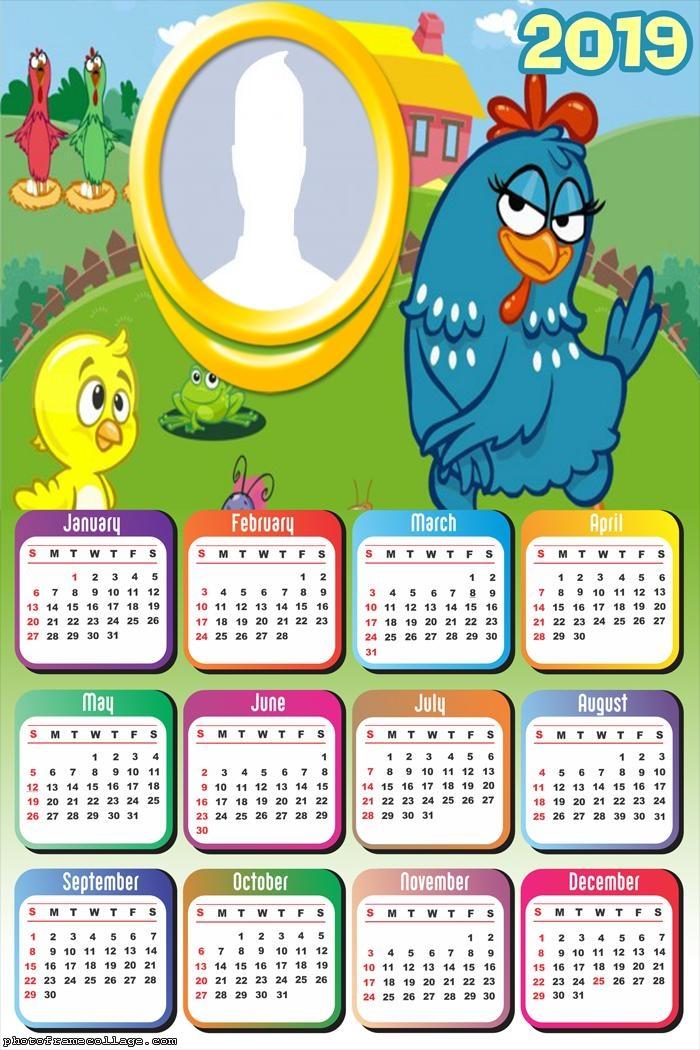 Lottie Dottie Chicken Calendar 2019