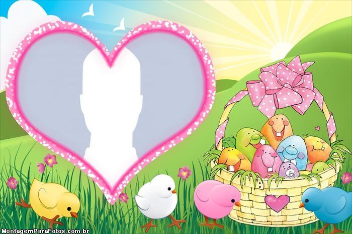 Frame Easter Egg Child Girl