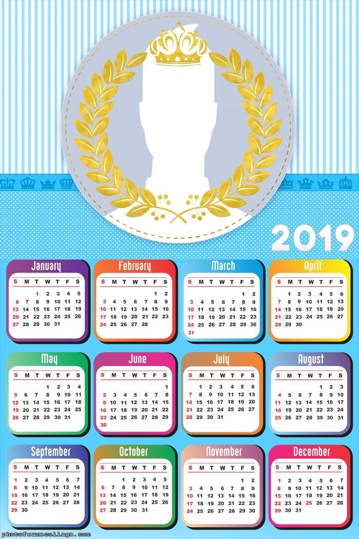Royalty Boys Calendar 2019